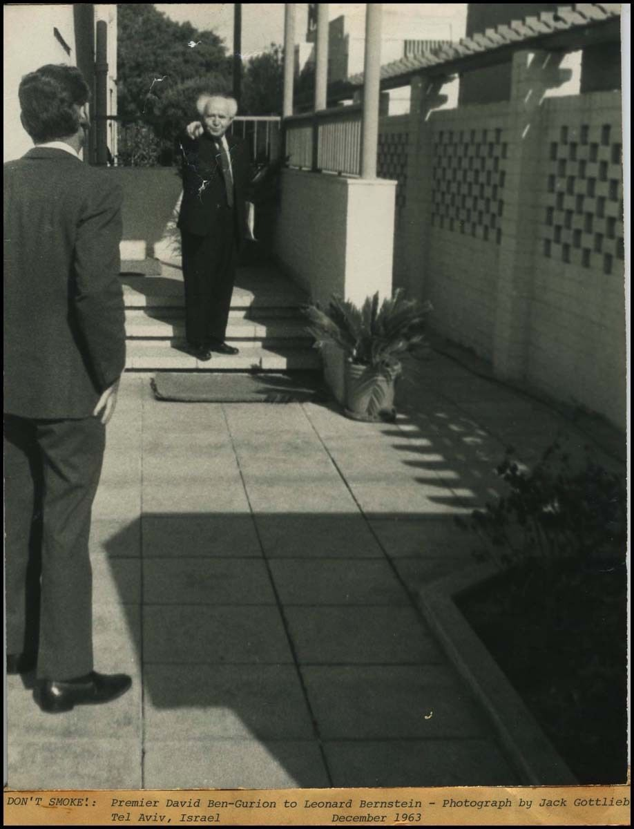 df7139af6c Ben-Gurion telling Bernstein not to Smoke!. Jewish History