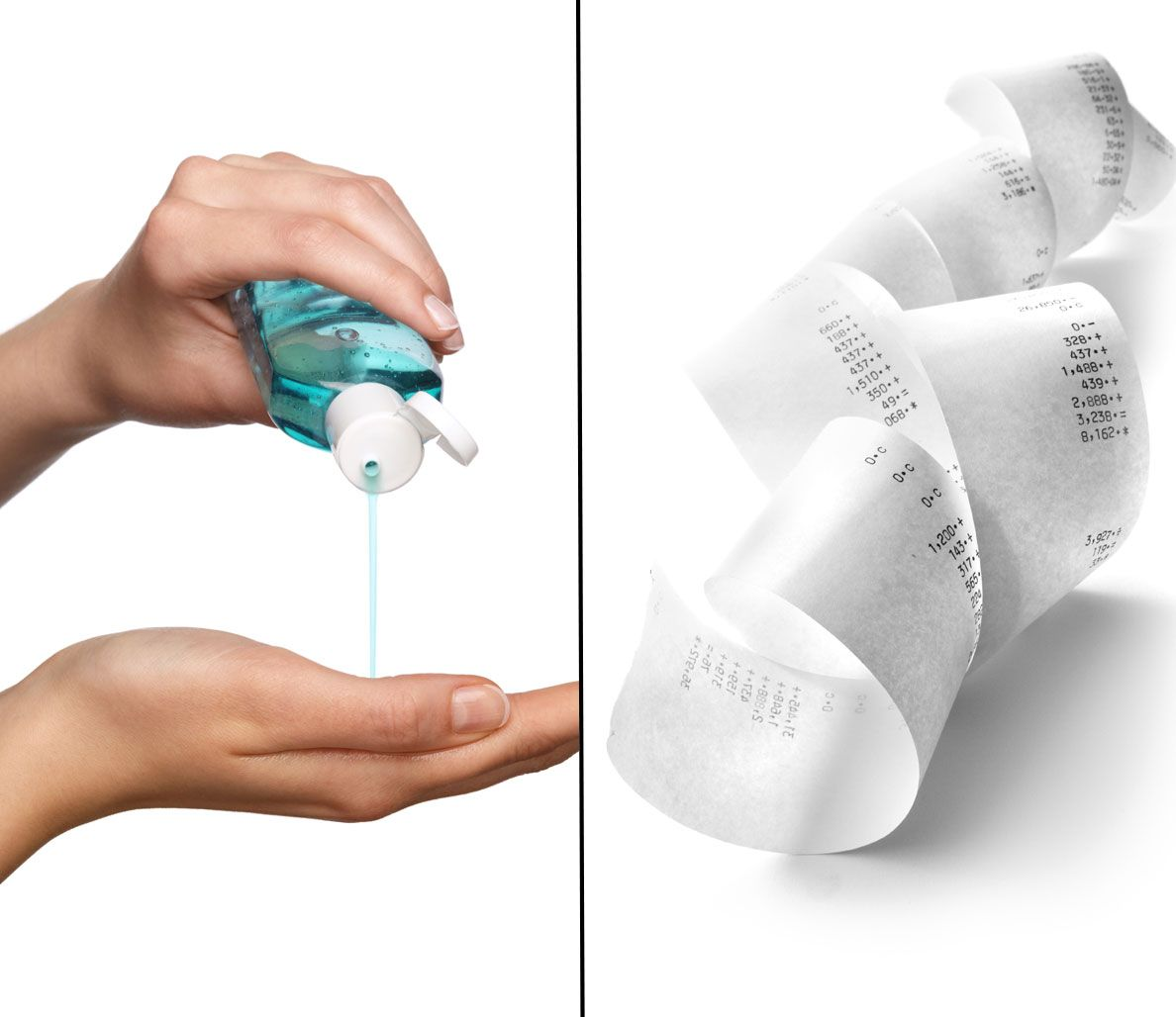 Why Using Hand Sanitizer Before Handling Receipts Is Dangerous To