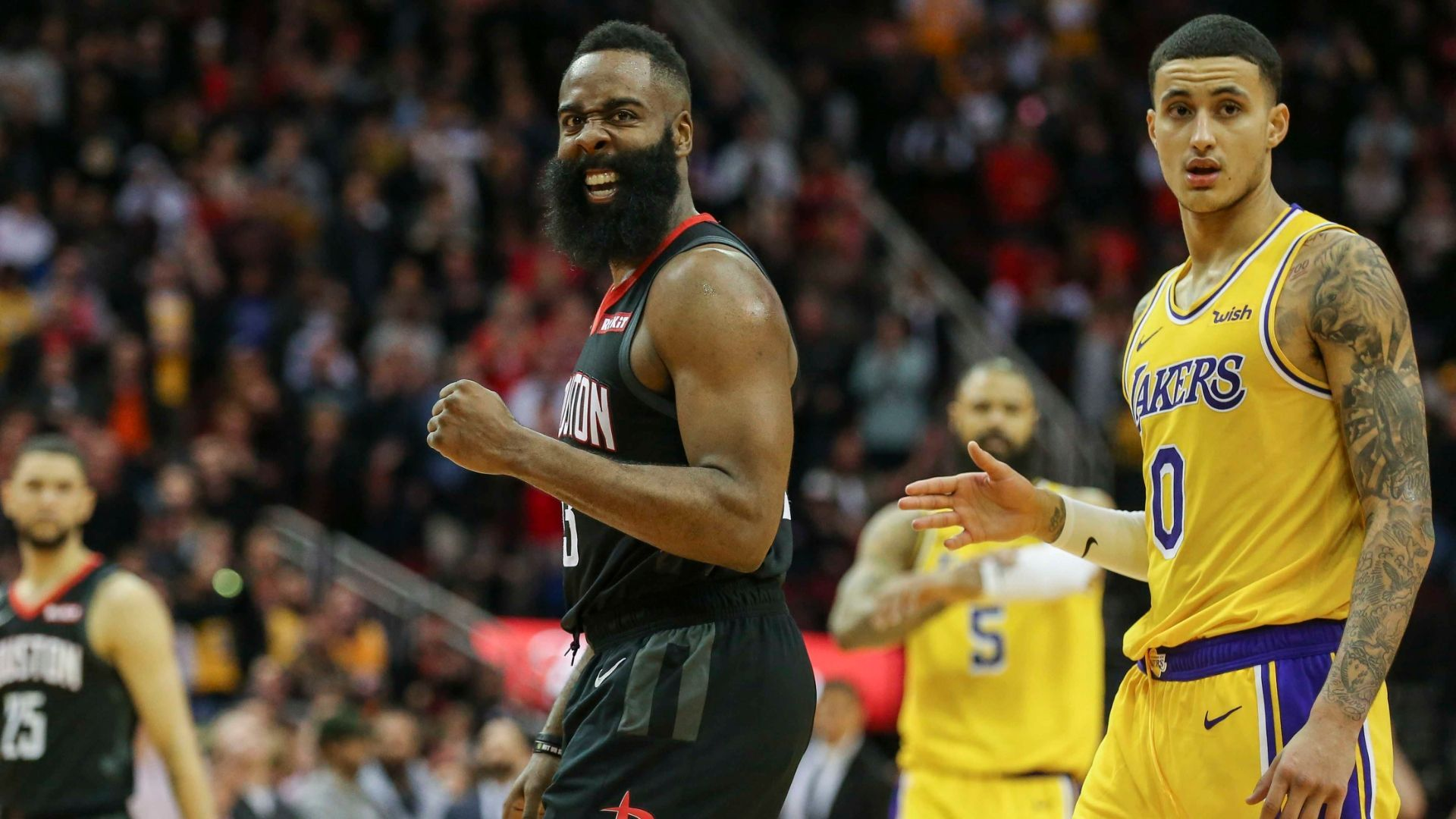 Harden Drops 48 Points In Rockets Ot Win Vs Lakers Espn Video Afc Championship Super Bowl Patriots