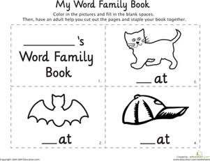 Word Family Printables -