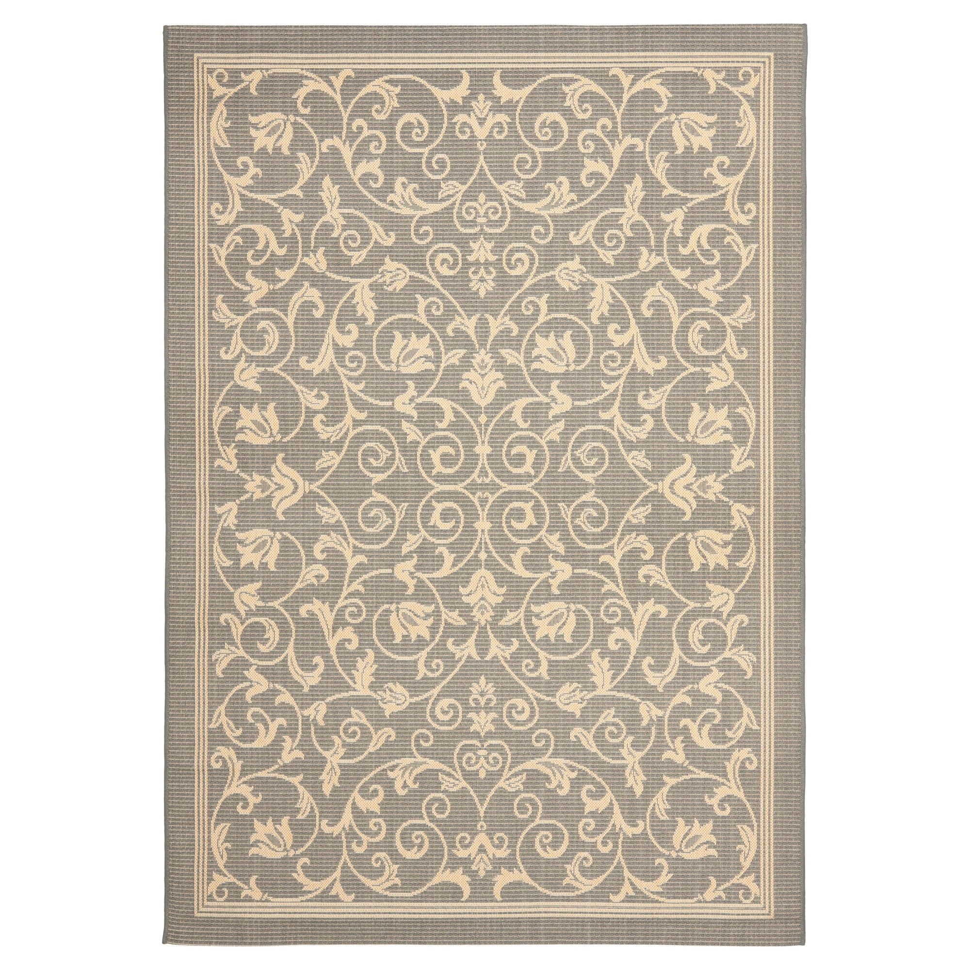 Vaucluse Rectangle 8 11 X 12 Outdoor Rug Gray Natural Safavieh