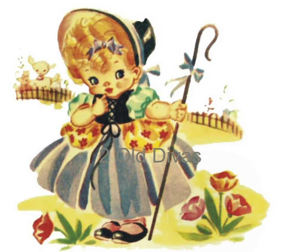 6 Vintage Nursery Rhyme Decals 1950s. $9.95, via Etsy. | DECALS ...