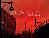 Berlin Allee | Display Typeface by Eugenio De Riso, via Behance