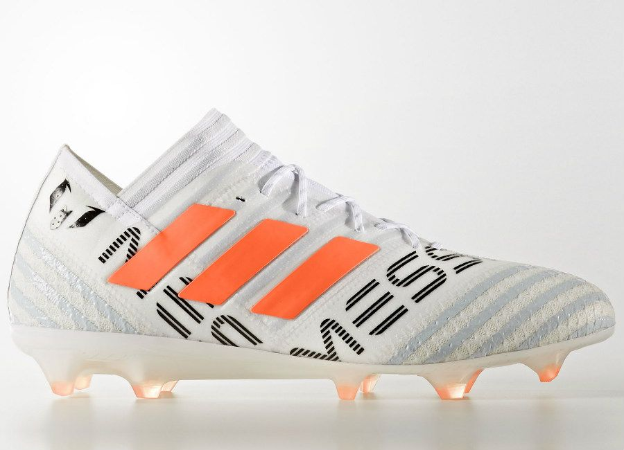 b155ed60f  football  soccer  futbol  adidasfootball Adidas Nemeziz Messi 17.1 FG - Footwear  White   Solar Orange   Clear Grey