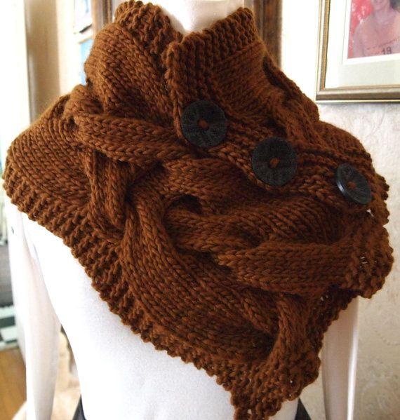 Modern Twist PDF Hand Knitting Cowl Pattern by KnitChicGrace, $6.00 ...
