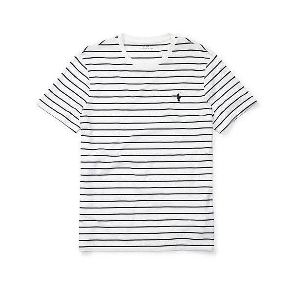 0e73096e93 Polo Ralph Lauren Striped Cotton Jersey T-Shirt ($25) ❤ liked on ...