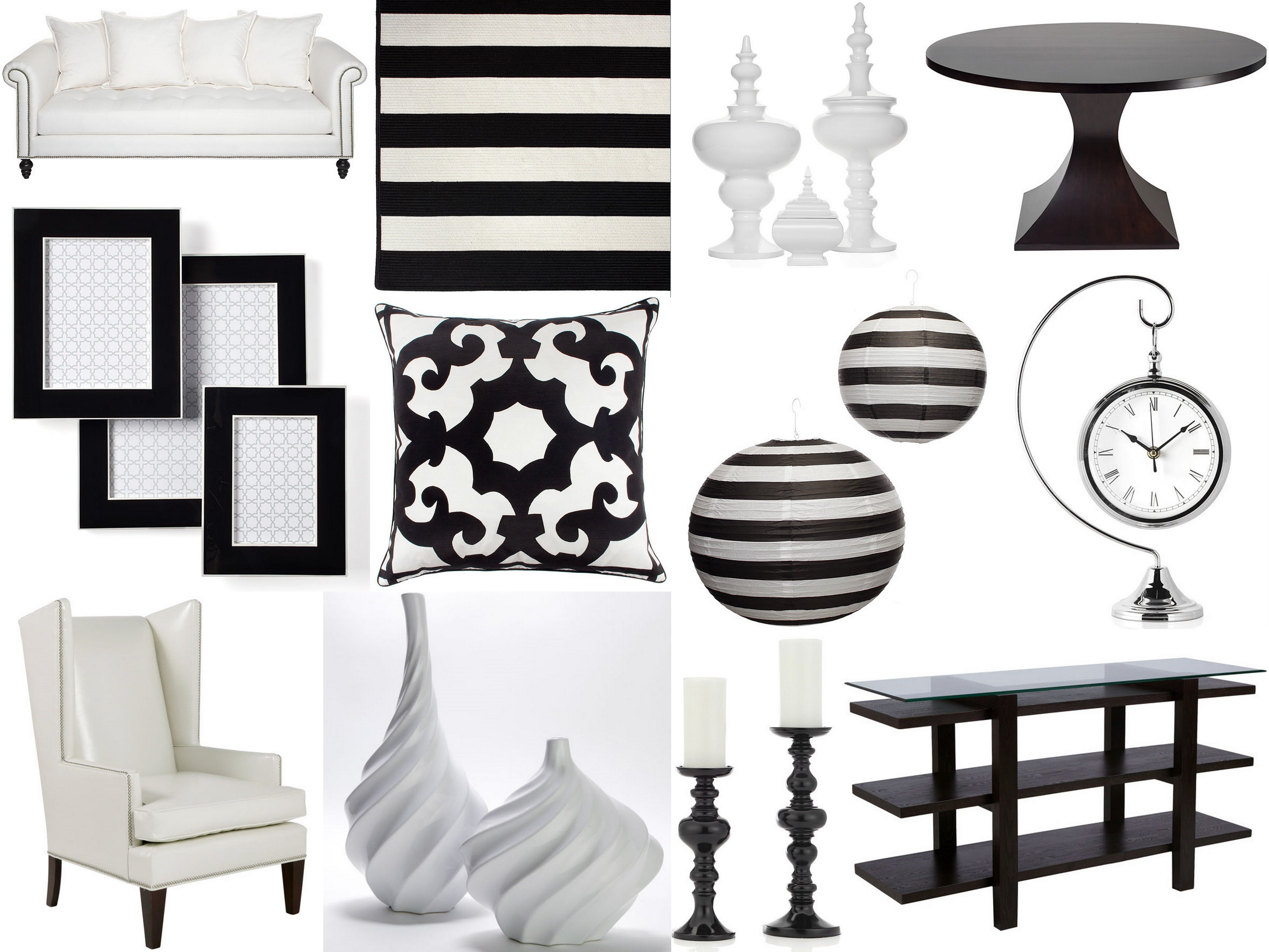 Inspired By Z Gallerie For Wedding Decor Inspired By This Home Decor Home Black And White Decor