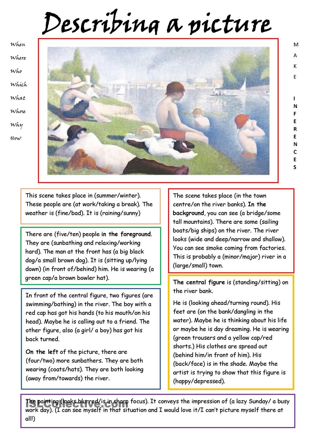 hight resolution of Describing a Picture   English reading