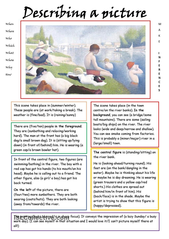 medium resolution of Describing a Picture   English reading