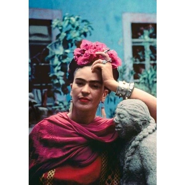 Frida Kahlo Art Seeing Color ❤ liked on Polyvore featuring home, home decor and wall art