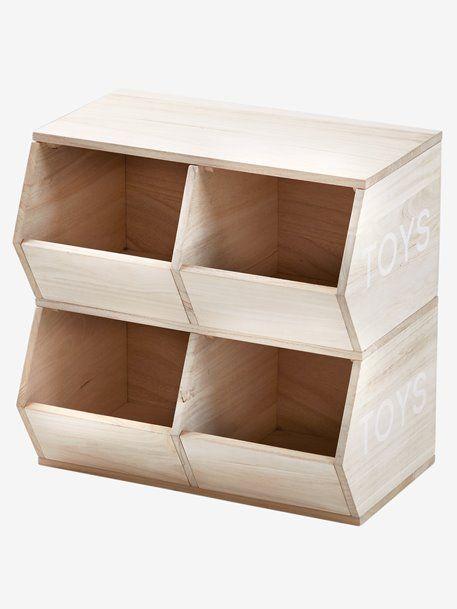 Meuble 4 bacs Toys bois - Vertbaudet (avec images) | Meuble rangement, Bac a jouet, Mobilier de ...