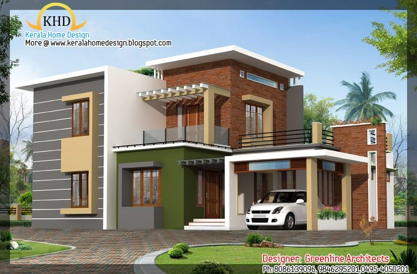 Home Elevation Sq Ft Kerala Home Design Floor Plans Sq Ft Modern  Contemporary Home Design Kerala