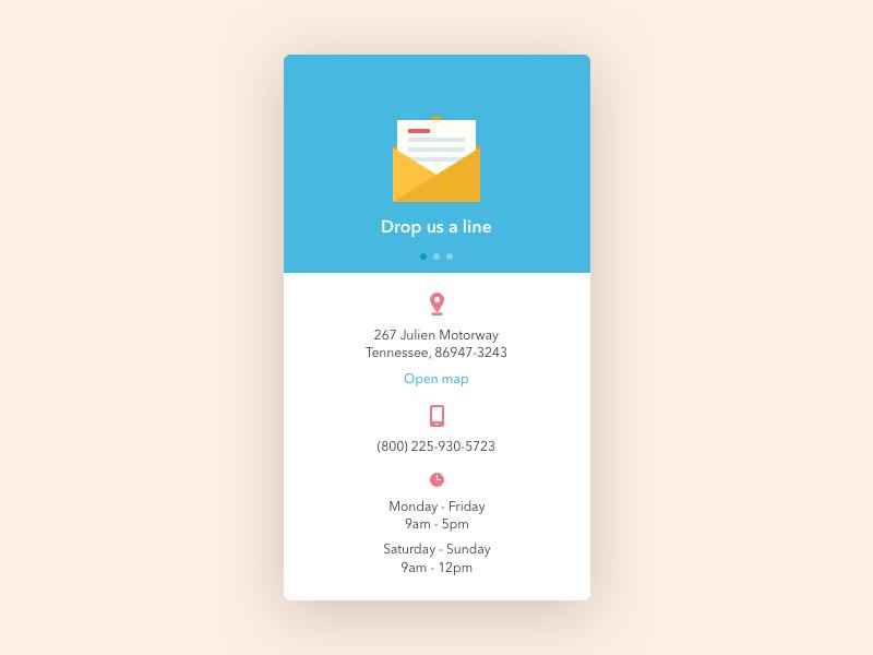 Contact Us Contact Us App Design Contacts