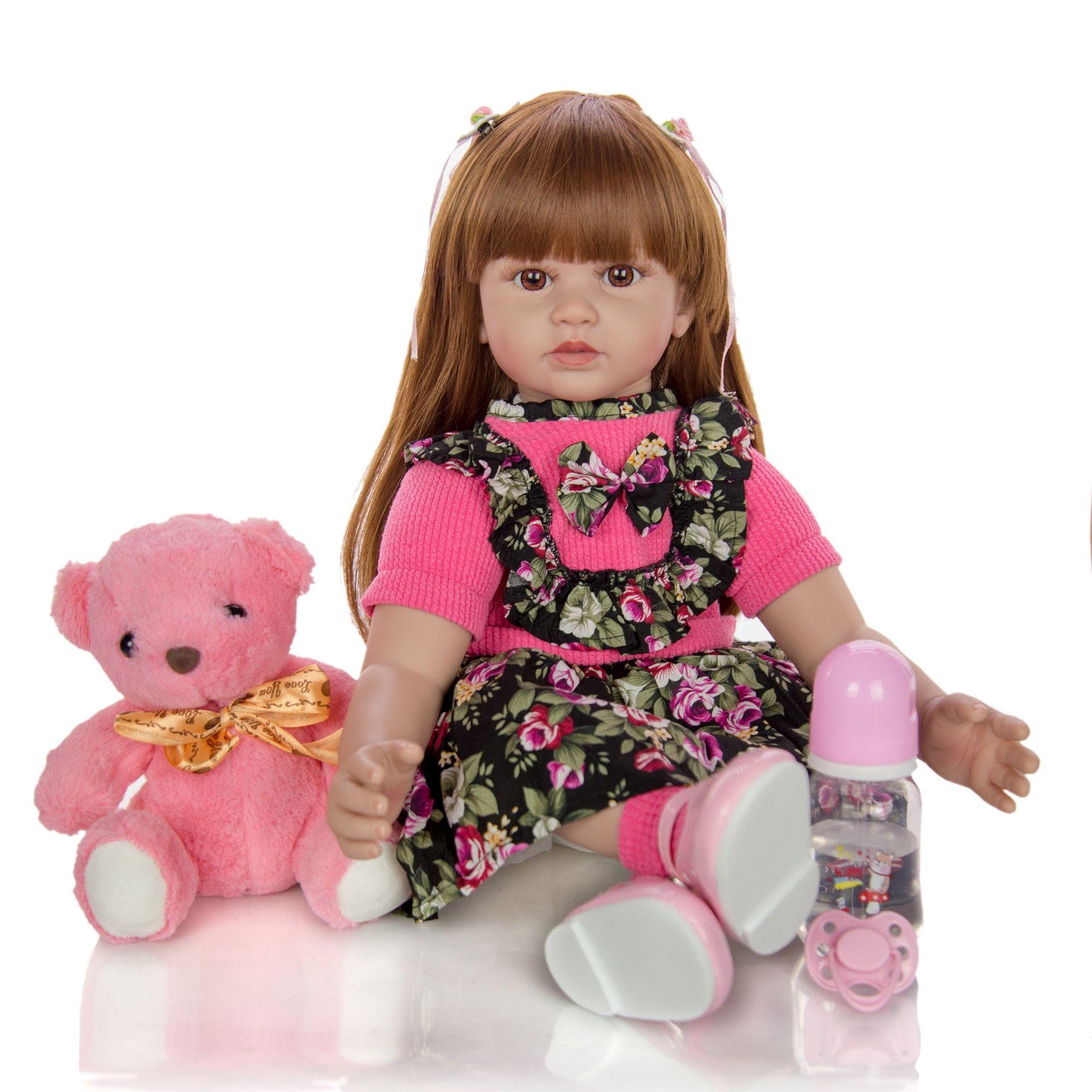 24 Inch Reborn Dolls 60 cm Silicone Soft Realistic elegant