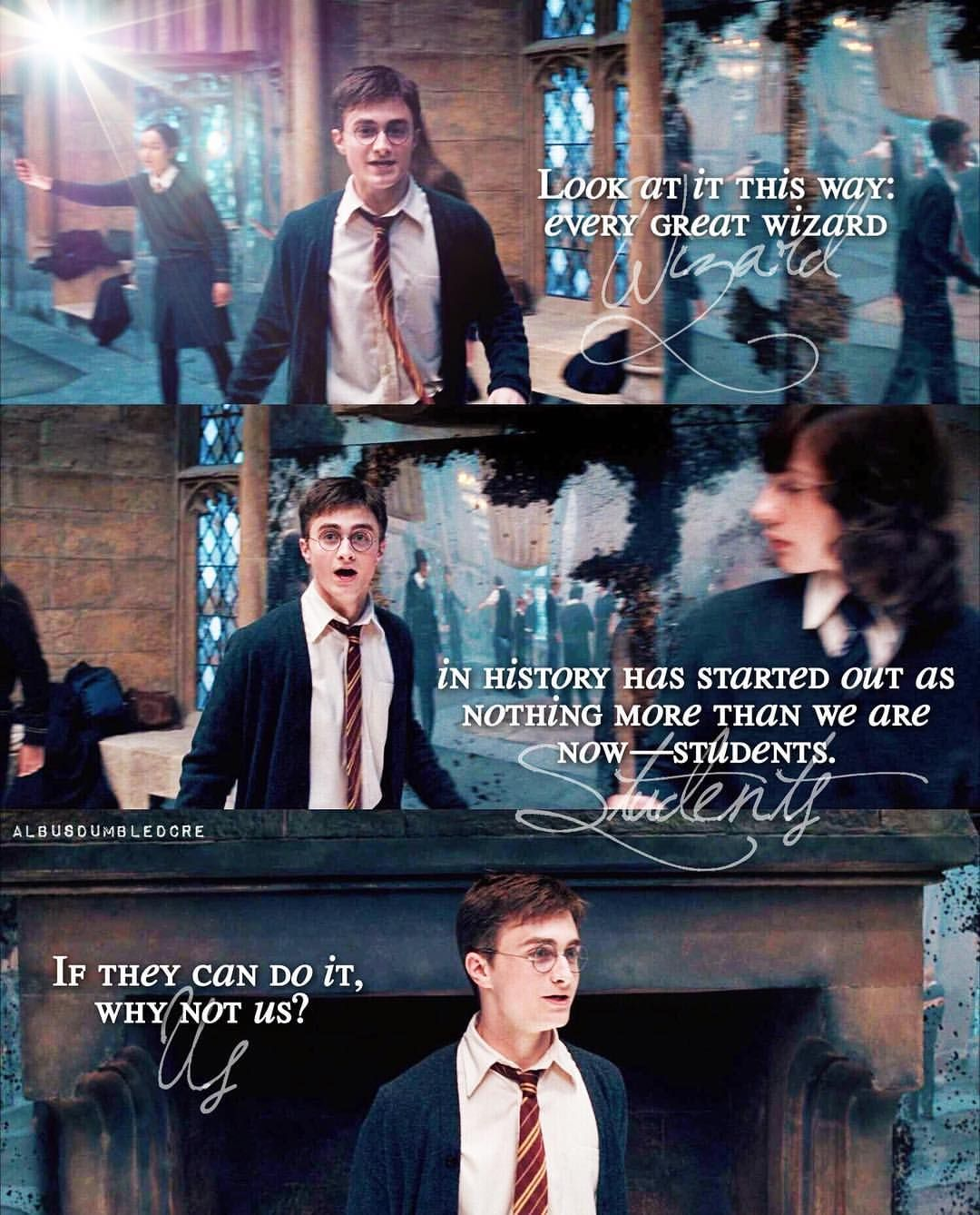 If They Can Do It Why Not Us Harry James Potter Daniel Radcliffe Harry Potter Harry Potter Universal