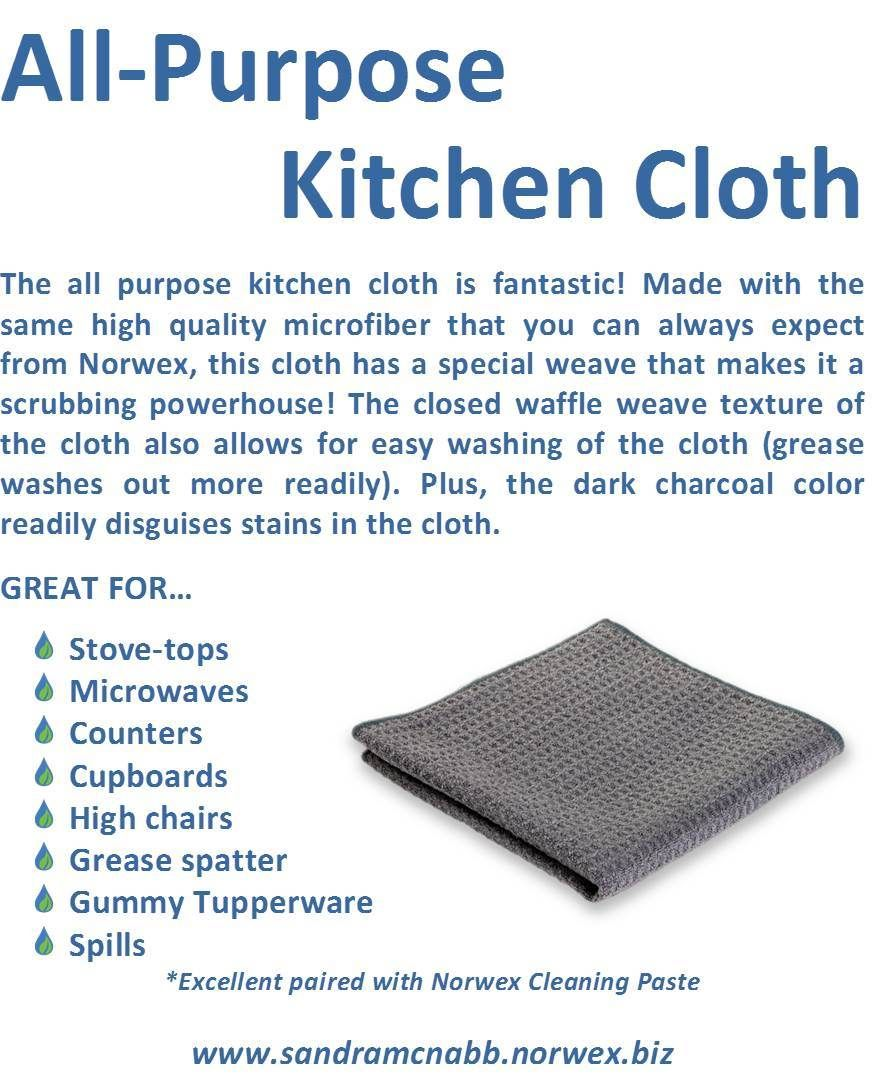 The All Purpose Kitchen Cloth Norwex Pinterest Norwex Cleaning
