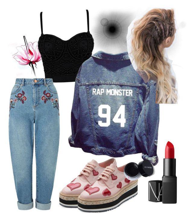 """Rap Monster"" by hipstergiirl on Polyvore featuring moda, Lancôme, Miss Selfridge, Prada y NARS Cosmetics"