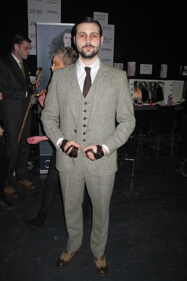 """KORMÁKUR AND SKJÖLDUR  March 31st, 2012  """"...Where did you find inspiration for this collection? When researching for this collection I looked mainly at hunter's clothing and I tried to adapt that to a more preppy style. Clothes you would wear to a wedding..."""""""
