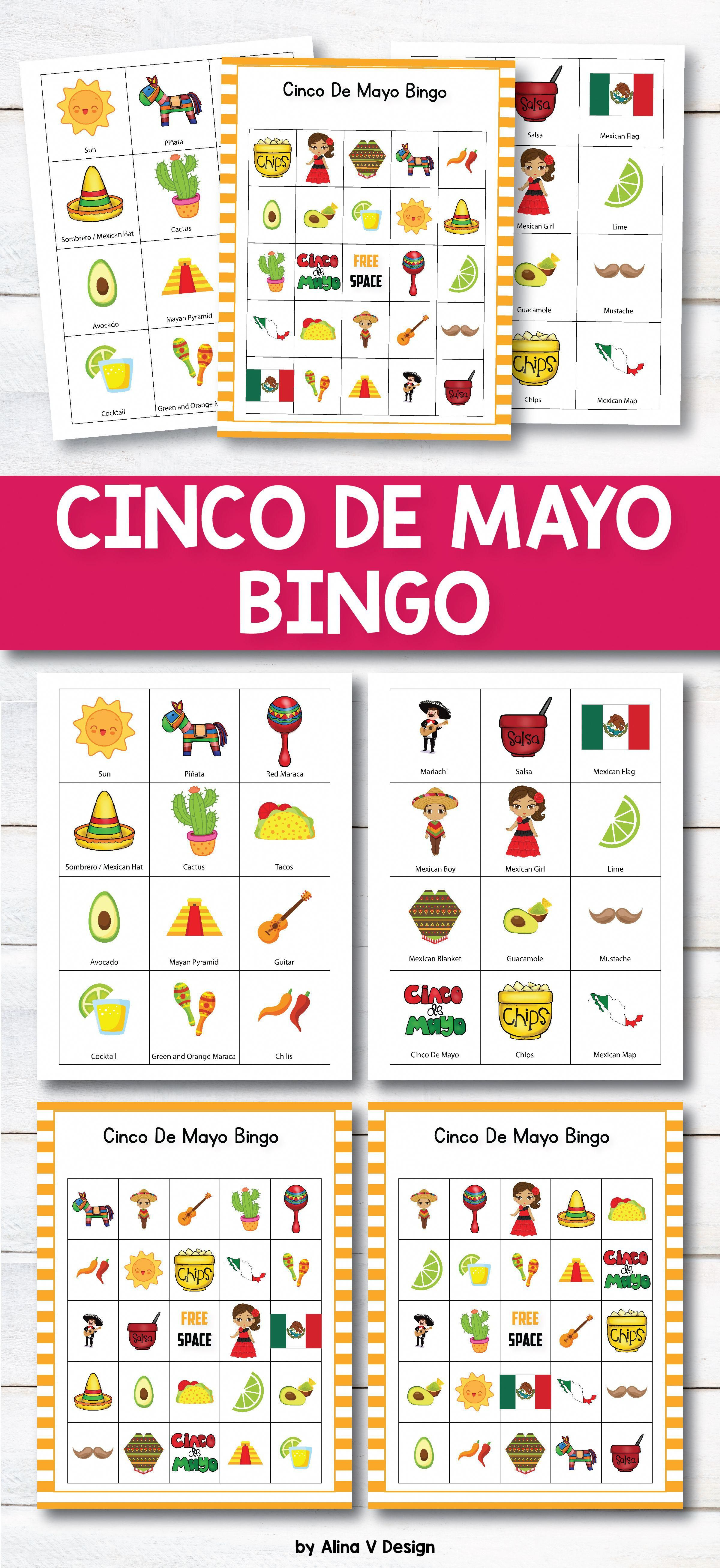 Cinco De Mayo Bingo Printable Is The Perfect Activity For