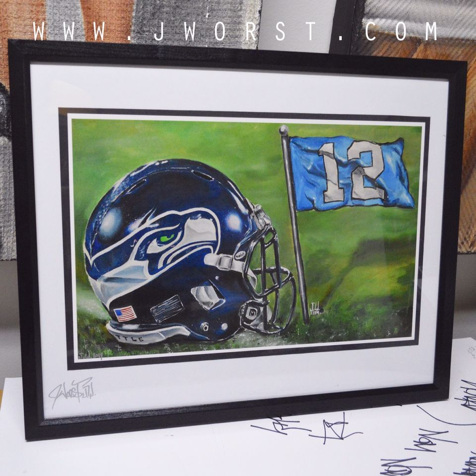 Seattle seahawks commission painting this is the frame print that seattle seahawks commission painting this is the frame print that i sell by jeremy jeuxipadfo Choice Image