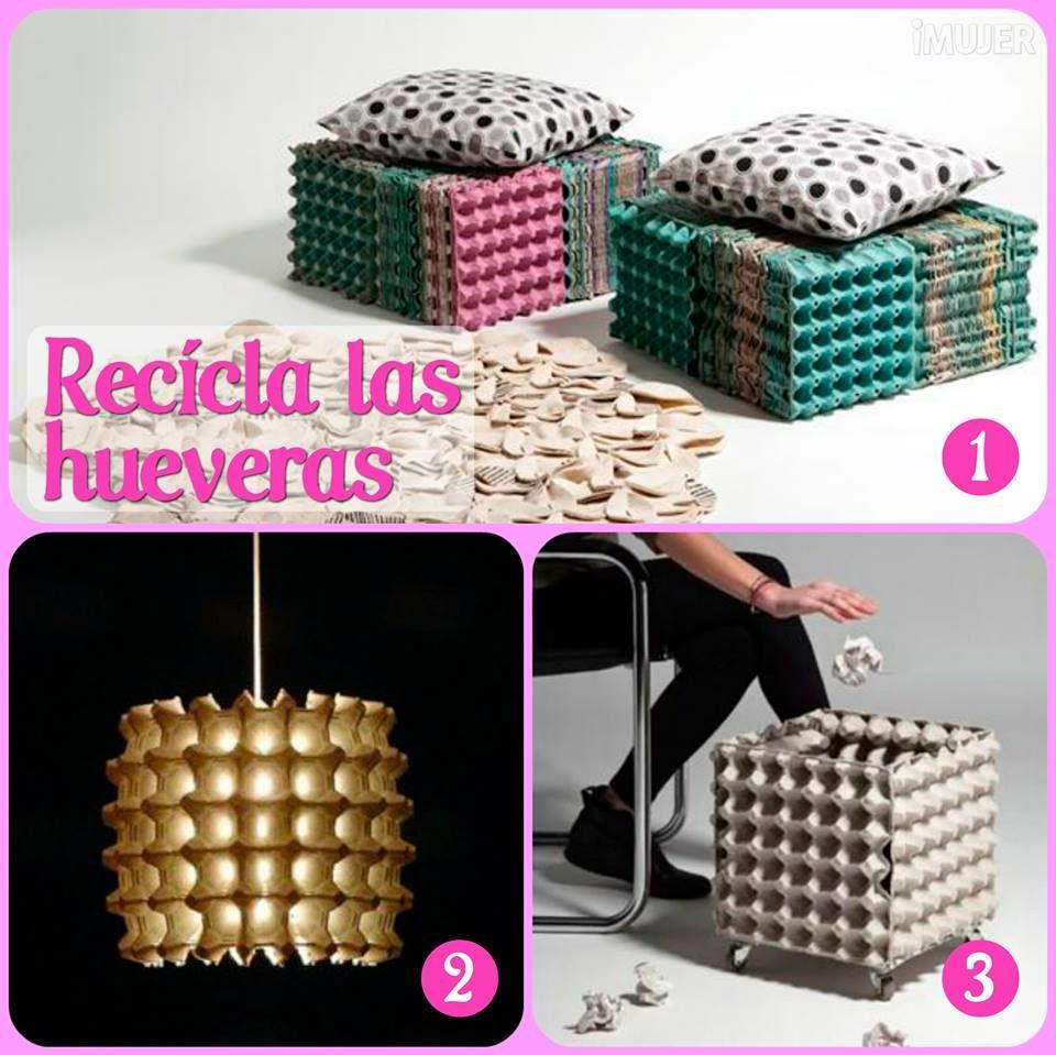 Recicla los cartones de huevos para hacer flores cajas - Caja de huevo ...