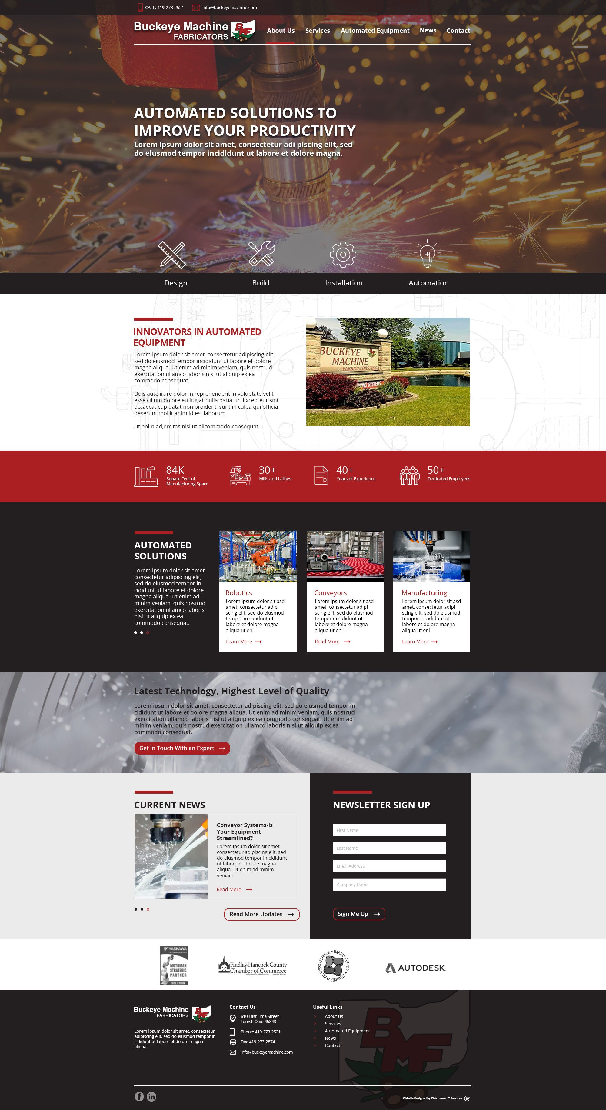 Modern Responsive Website Design For Manufacturing Business Facebook Sign Up Design Website