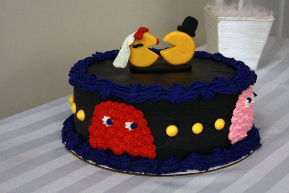 Mr and Mrs Pac Man Cake Topper