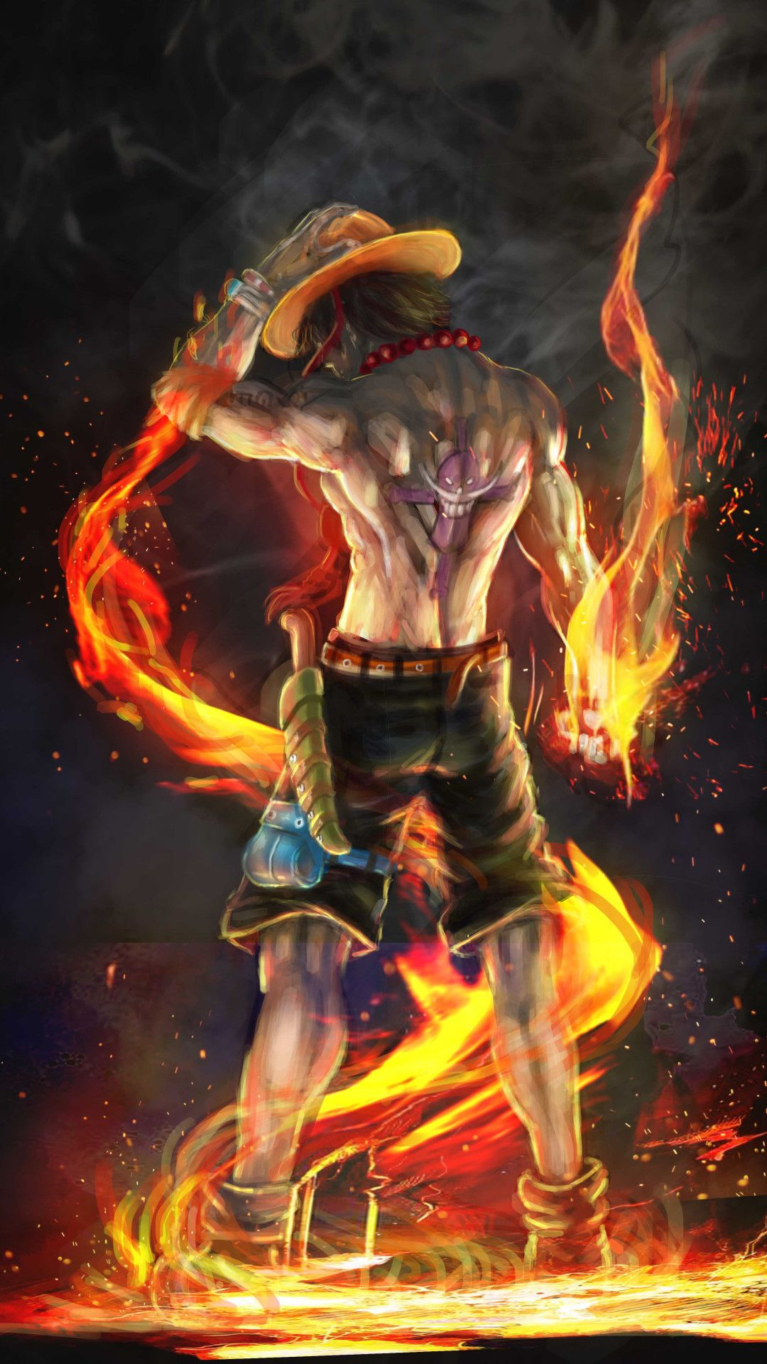 Fire Fist Ace 4k Artwork Mobile Wallpaper (iPhone, Android