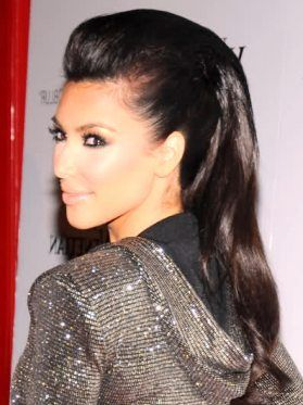 Attractive How To Do Kim Kardashian Mohawk Hairstyle