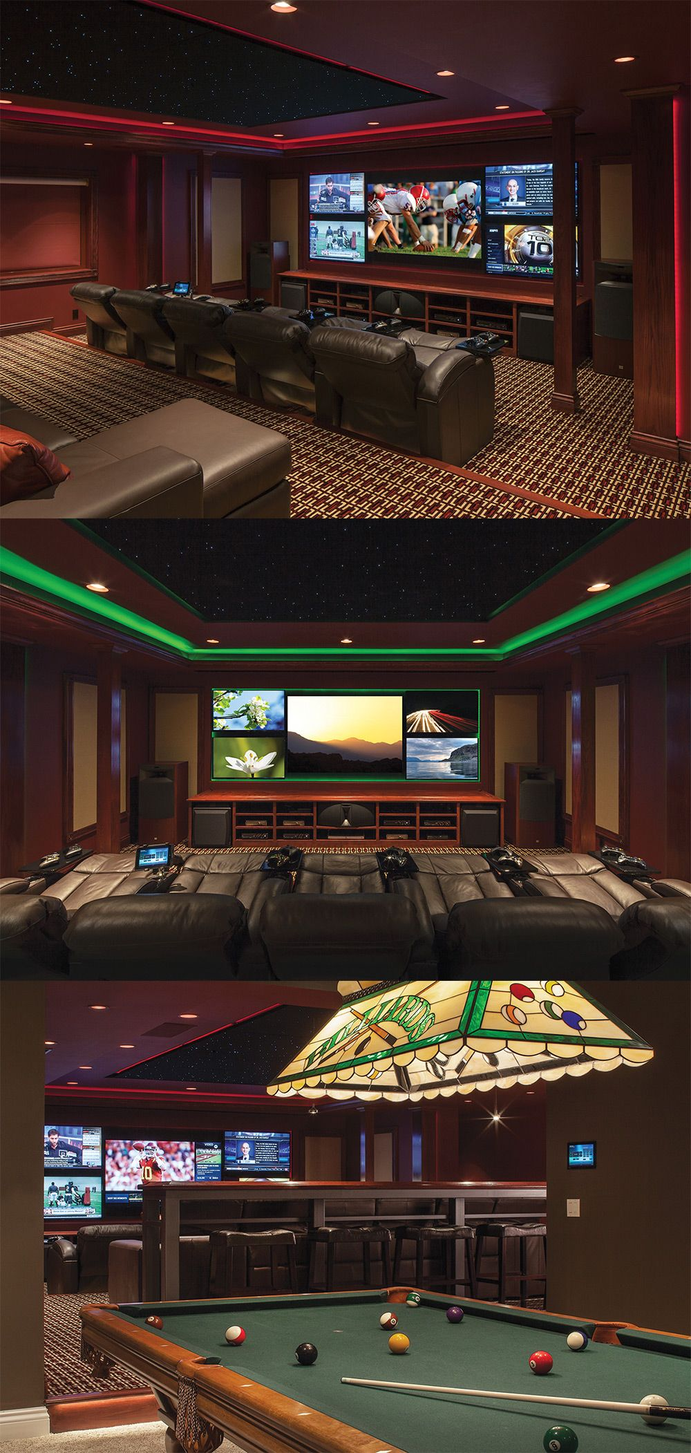 """CEDIA GOLD technical design Media Room, """"BEST Overall Media Room"""", integration by Control Concepts."""