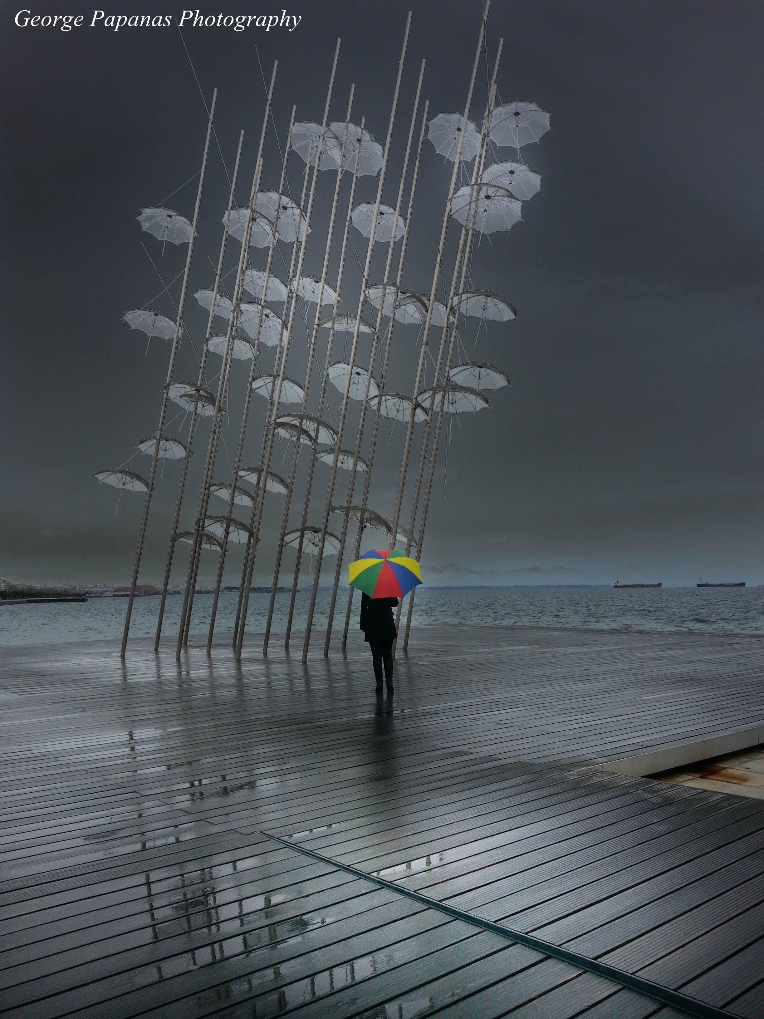 0edd87734 Ομπρέλες στη βροχή... Θεσσαλονίκη, Thessaloniki... | Thessaloniki ...