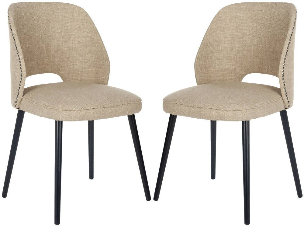 Lizzie Dining Chair Set Of 2 Beige By Safavieh Dining Room