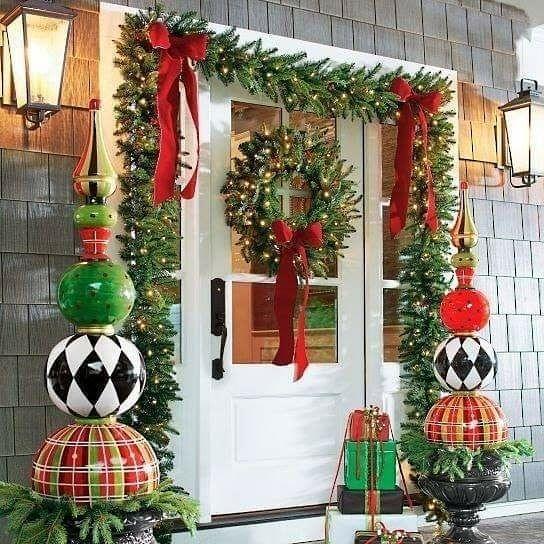 Pin De Mimas Art Cake En Navidad Decoración Exterior Navidad Decoracion Puertas Navidad Decoracion De Puertas Navideñas
