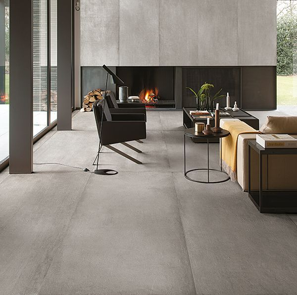 Carrelages prima materia cemento 80x180 by kronos sols for Carrelage living