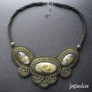 Haft koralikowy by Jagienkaa. Beaded necklace by Jagienkaa.