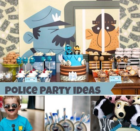 decoracin para una fiesta infantil de cumpleaos de policas