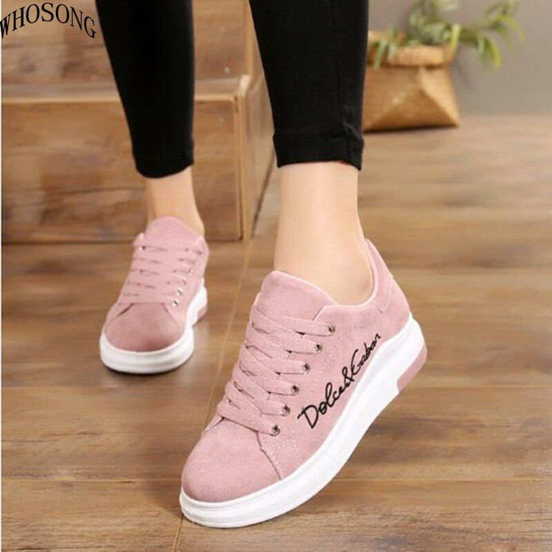 Whosong New Fashion Women Vulcanize Shoes Casual Shoes Spring Platform Ladies Shoes Lace Up Sneakers Zapat Trendy Shoes Sneakers Girly Shoes Casual Shoes Women