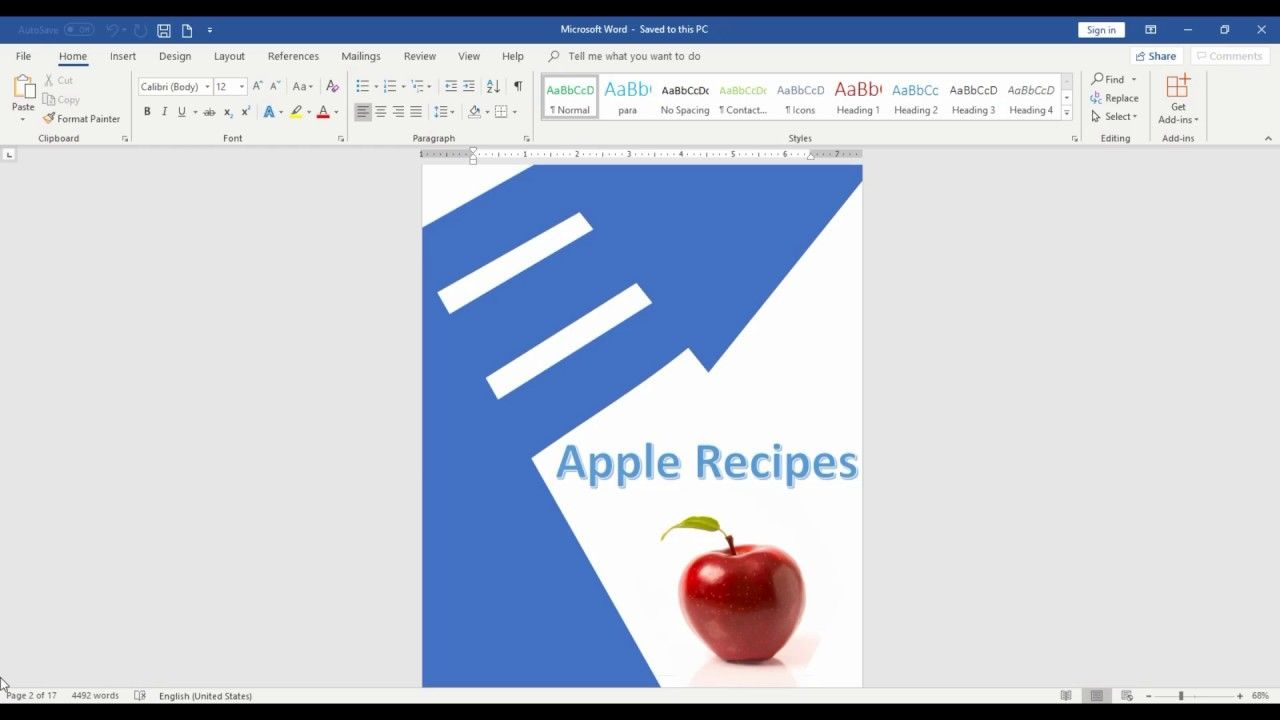 How to add and Remove Blank Page in Microsoft Word 2016 Tamil | Microsoft word  2016, Words, Microsoft word