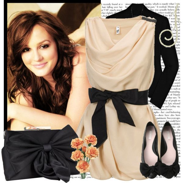 Leighton Meester, gossip girl xoxo. Cute dress. Created by pelin on Polyvore