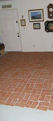 Basement Floor Faux Brick Brick Flooring Flooring