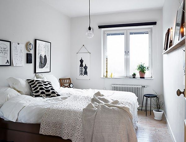 Inspiración y calidez de un dormitorio blanco y negro | Dormitorios ...