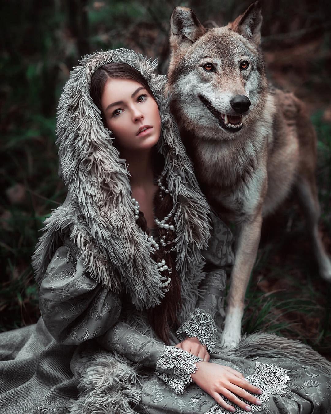 Картинки волк в девушке