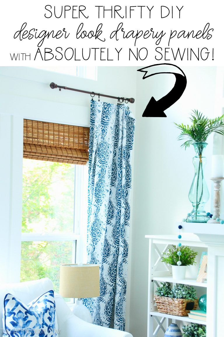 Quick Easy Diy No Sew Drapery Panels Designer Look For Less The Hy Housie