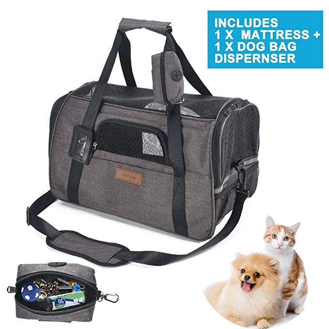 Airline Approved Soft Sided Pet Travel Carrier with Mesh