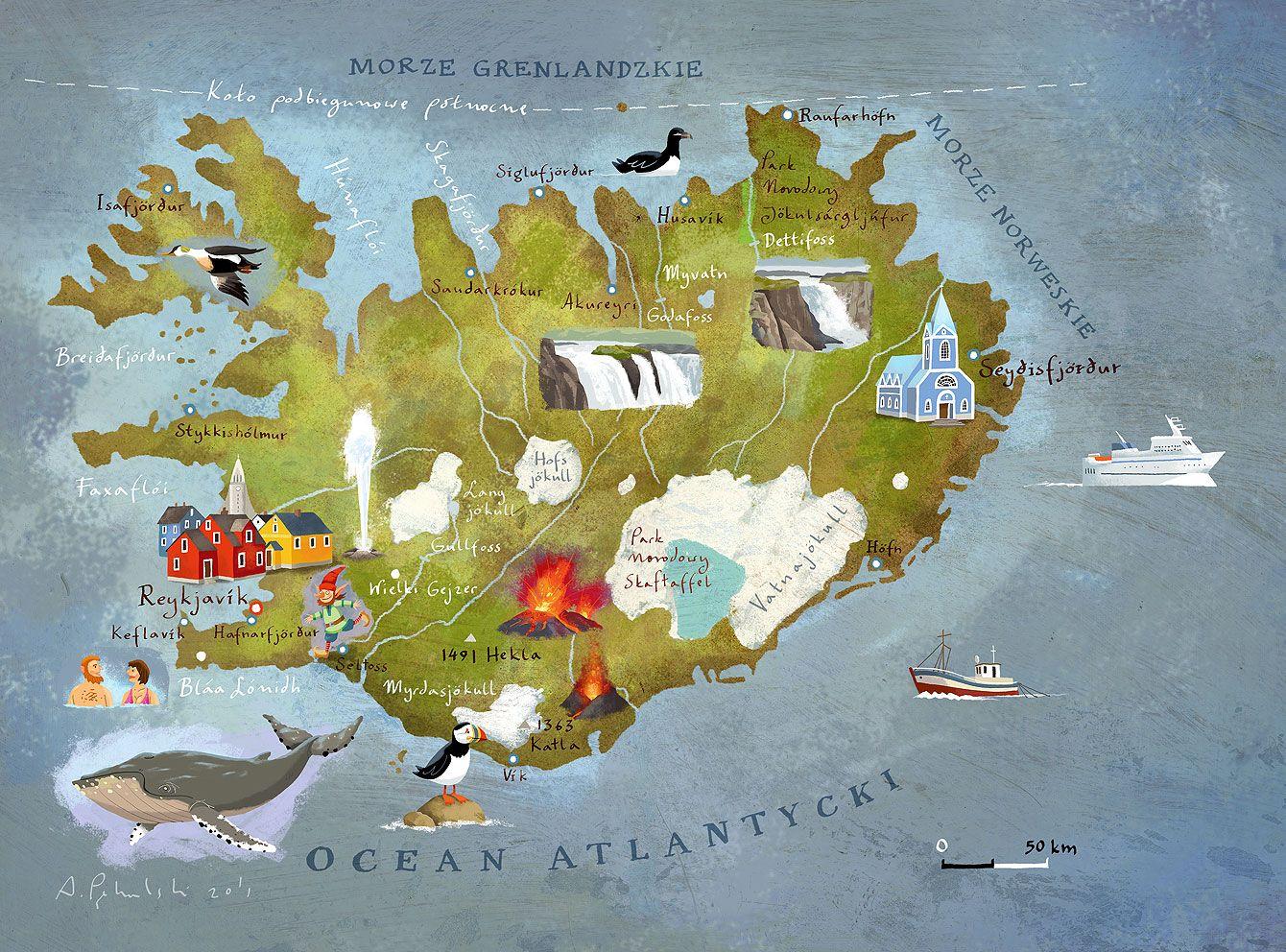 Blog Adama Pękalskiego Art Iceland Map Travel
