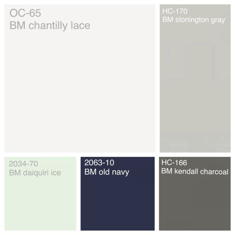 2121 70 chantilly lace kendall charcoal and stonington gray for Benjamin moore chantilly lace