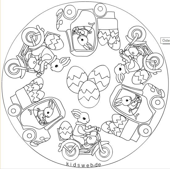 Easter Mandala Coloring Page Mandala Coloring Pages Easter