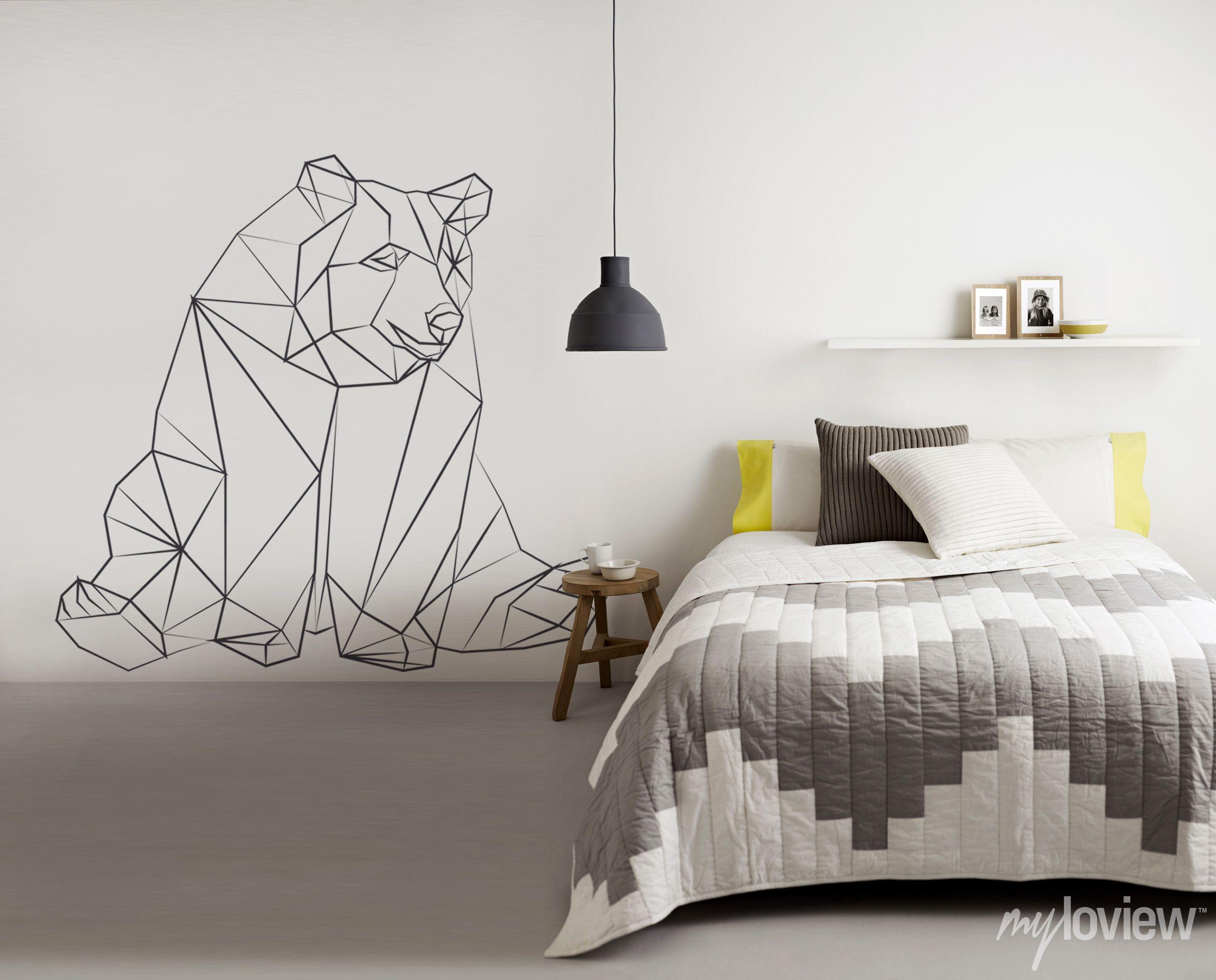geometric bear sticker from myloview decals wall geometric