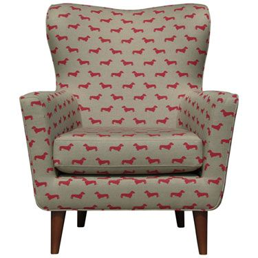 Fantastic John Lewis Midcentury Style Thomas Armchair In A Dog Print Ocoug Best Dining Table And Chair Ideas Images Ocougorg