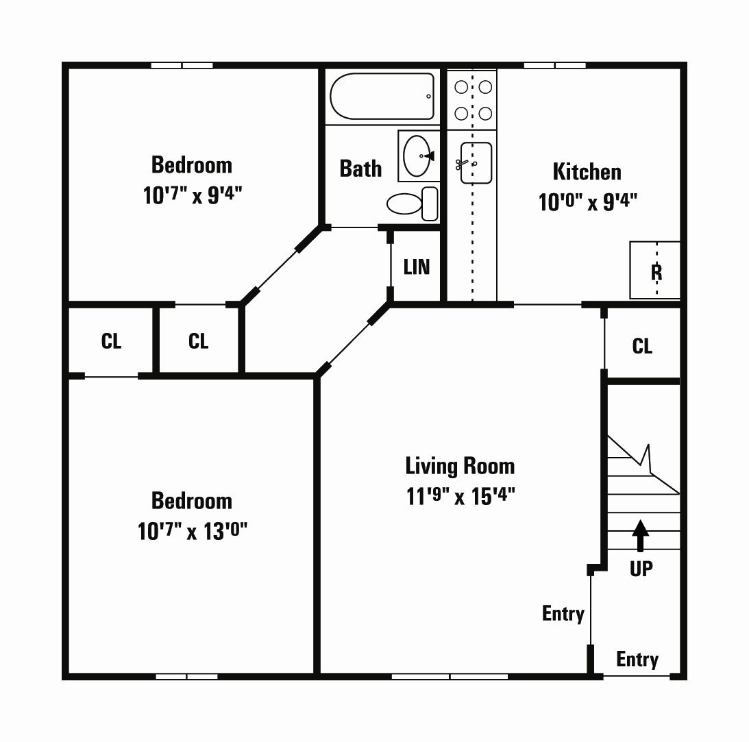 One Bedroom 500 Sq Ft Two Bedroom 620 Sq Ft 500 Sq Ft House Plans Small House Floor Plans 500 Sq Ft House Studio Apartment Floor Plans